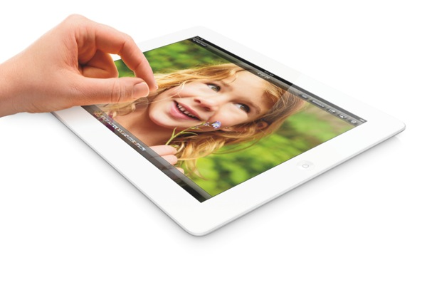 IPad wRet Pinch Wht Photo PRINT